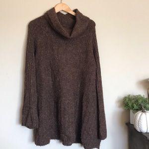 Vintage dark brown cozy oversized slouchy sweater